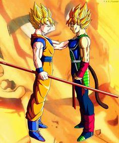 Goku and Bardock .. Conversation Bardock : you did good son Goku: thanks dad