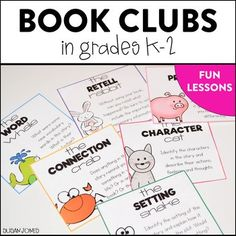Book Clubs for first and second grade! It may seem like a stretch, but the Spring is such a great time to get your students ready and used to reading, thinking about, and discussing books with their peers instead of me, the teacher! Reading Groups, Guided Reading, Teaching Reading, Reading Club, Reciprocal Reading, Reading Strategies, Reading Skills, Fun Learning, Second Grade Books
