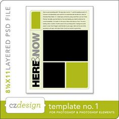 Cathy Zielskes Layered Template No. 001 - Digital Scrapbooking Templates