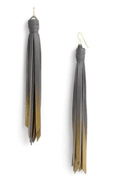 Daly Bird 'Julie' Leather Tassel Earrings