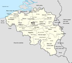 Stereotype map of Belgium.