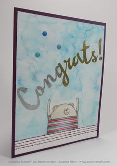 Stampin' Up! Birthday Greeting Cards, Homemade Cards, Stampin Up, Cheer, Watercolor, Frame, How To Make, Crafts, Catalog