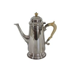 Pre-Owned English Victorian Coffeepot C. 1870 (19.605 ARS) ❤ liked on Polyvore featuring home, kitchen & dining, serveware and silver