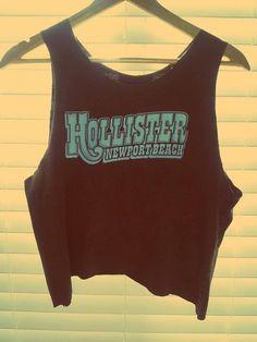 Hollister Newport Beach Vintage Style Crop Top by TheLotusPetals, $20.00