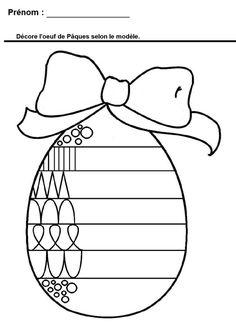 Pâques en maternelle : reproduire les différentes graphies en maternelle