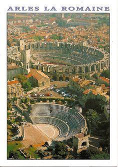 ROMAN RUINS IN ARLES ~ Arles La Romaine. The Roman amphitheatre and coliseum.