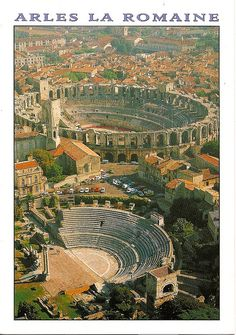 Arles (France). The Roman theatre and coliseum