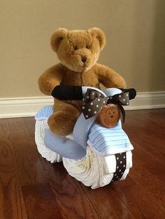 Diaper cake bicycle...soo cute and original!