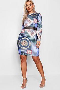 94431bd085d Plus Size Printed Mesh Bodycon Dress (plus size)  plussize  plussizedresses  Next Dresses