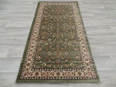 Green Traditional Design Turkish Rug Size: 80 x 150cm