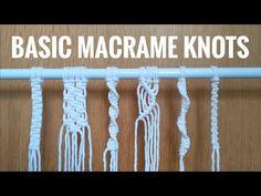Macrame Plant Hanger Patterns, Macrame Wall Hanging Patterns, Macrame Art, Macrame Design, Macrame Projects, Macrame Patterns, Weaving Loom Diy, Macrame Tutorial, Knots