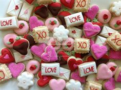 Valentines day mini cookies
