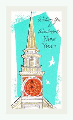 Wishing You a Wonderful New Year Clock Tower
