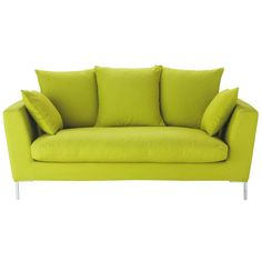 Divano verde anice a 3 posti DUBLIN