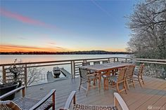 The Mercer Island residence once owned by Seahawks coach Mike Holmgren just sold once again Outdoor Tables, Outdoor Decor, Deck Railings, Outdoor Furniture, Island, Home Decor, Decoration Home, Room Decor