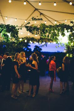 Natural sky blues in the background... Fashionable New York Garden Wedding