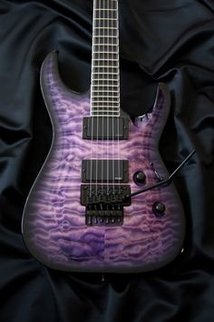 Purple guitar