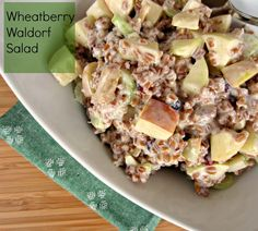 Wheatberry Waldorf Salad- yummy wanted a wheat berry recipe- don't ...