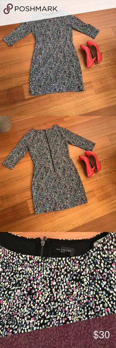 Multi colored 3 quarter length sleeve dress Splash multi colored 3 quarter length sleeve dress  Shoes not for sale The Limited Dresses Long Sleeve