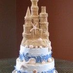 A Sandcastle Theme Cake.