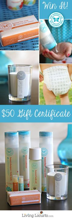 The Honest Company ~ Enter to win a $50 Gift Certificate Giveaway at LivingLocurto.com #giveaway