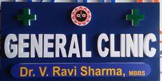#Ledsignage for Dr. Ravi sharma General Clinic located at #Thirumlgerry, #Secunderabad.  http://raghudigitals.com/