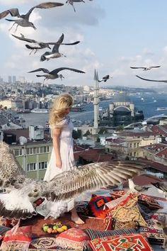 Turkish Rugs are overflowing with silk pillows as fluffy stray cats nap on these sumptuous heaps of softness and seagulls descend at the Kubbe in Istanbul. Visit Istanbul, Istanbul Travel, Istanbul City, Vacation Trips, Dream Vacations, Istanbul Pictures, Places To Travel, Places To Go, Turkey Destinations