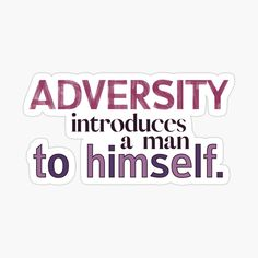 Quotes About Overcoming Adversity, Overcoming Quotes, Decorate Notebook, Glossier Stickers, Printed, Awesome, Art, Products, Art Background