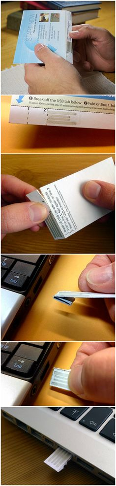 intelliPaper is a patented technology that allows a USB drive to be made almost completely out of paper and can be read using any computer.