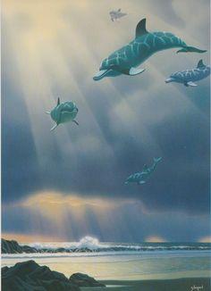 Dolphin Flight By Schim Schimmel.