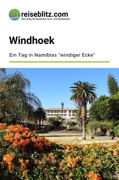 Windhoek: Ein Tag in Namibias Hauptstadt Travel Around The World, Around The Worlds, Namibia, Mansions, House Styles, Round Trip, Travel Report, Africa, Manor Houses