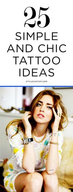 25 Simple & Minimalist Tattoo Ideas for Women | @StyleCaster