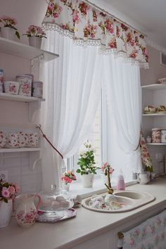 Find more ideas: Shabby Chic Kitchen Curtains Vintage Kitchen Curtains Country Kitchen Curtains Kitchen Curtains With Blinds Long Rustic Kitchen Curtains 10 DIY Dorm Decor Simple and Easy Landscape Painting Extremely Beautiful Pastel Watercolor Paintings Shabby Chic Kitchen Curtains, Vintage Kitchen Curtains, Curtain Decor, Country Kitchen Curtains, Chic Decor, Curtains With Blinds, Shabby Chic Homes, Home Decor, Chic Kitchen Decor