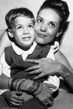 Passed away: Actress Anna Kashfi, the first of Marlon Brando's three wives, has died of colon cancer at the age of 80. She is seen here with their son Christian