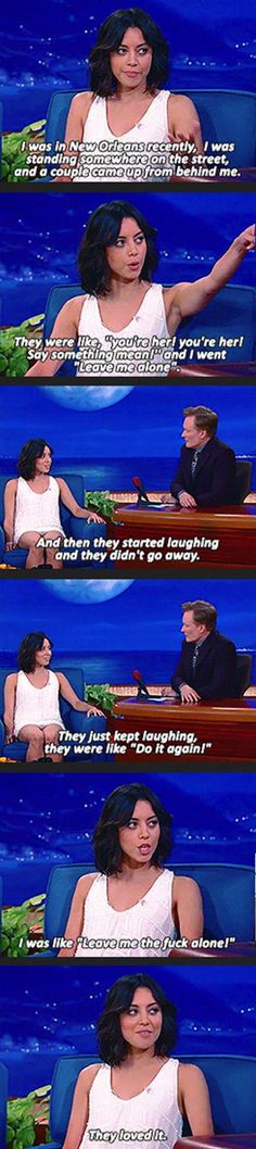 Further Proof That Aubrey Plaza Is Awesome!! i soo love her lol