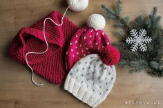 knitted beanie & knitted cowl