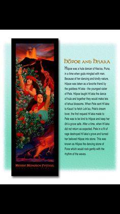 Hawaiian Godess Hi'iaka & her beloved friend Hopoe Family In Hawaiian, Hawaiian Girls, Hawaiian Art, Hawaiian Mythology, Hawaiian Goddess, Polynesian Art, Polynesian Culture, Hawaiian Girl Tattoos, Hawaiian Hula Dance