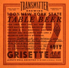 Transmitter Brewing NY2