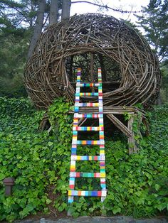 for my dream garden.....  Colorful ladder like item could be done even if it was not to be climbed just as an item with colors.