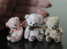 Mini teddy bear pattern and tutorial Is it me or do they look like they are committing suicide at least the smallest one does