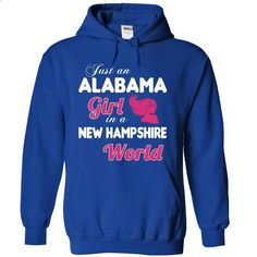 An ALABAMA-NEW HAMPSHIRE girl Pink04 - #shirt design #cropped hoodie. CHECK PRICE => https://www.sunfrog.com/States/An-ALABAMA-2DNEW-HAMPSHIRE-girl-Pink04-RoyalBlue-Hoodie.html?68278
