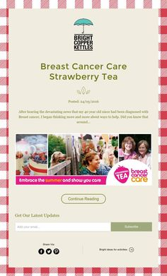 Breast Cancer Care Strawberry Tea
