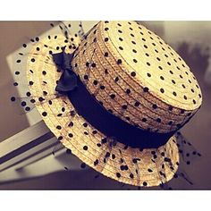 vintage ladies southern straw hats | Women Chiffon Straw Hat , Vintage/Cute…