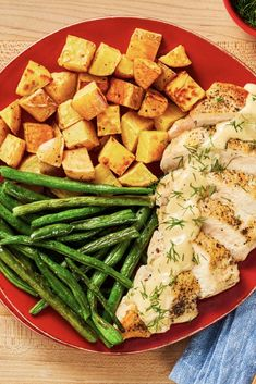 Cooking Recipes, Healthy Recipes, Healthy Meals, Cooking Tips, Healthy Food, Calories In Green Beans, Dill Chicken, Good Food, Yummy Food