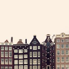 Crooked Houses - Amsterdam Photography, Travel, Minimal Whimsical Architecture Print, Urban, City, Europe, Home Decor, Windows on Etsy, $30.00