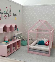Toddler Room Decor, Toddler Rooms, Baby Room Decor, Bedroom Decor, Baby Bedroom, Girls Bedroom, Little Girl Bedrooms, Baby Deco, Girl Bedroom Designs