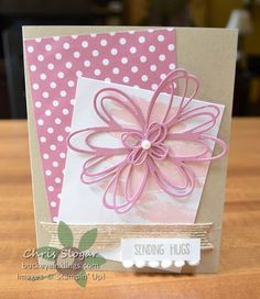 This is another version of a Sunshine Wishes card I showed a couple of weeks ago. I designed this card for a swap. I made it in a couple of color schemes before I decided which one to make in quantity
