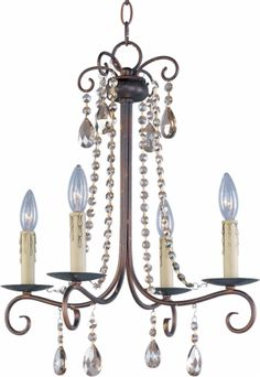 Adriana 4-Light Chandelier 22194 Early American. Description Physical Specifications Electrical Specifications The Adriana-Single-Tier Chandelier #22194, is a early american style, 4-light Hanging Chandelier with a traditional, rustic, candle, french country style influence, infused into its lighting decor. material. About The Adriana Hanging Chandelier Collection... Simple elegance adorns the Adriana collection as strings of cognac colored crystal gently cascade from a graceful frame of …