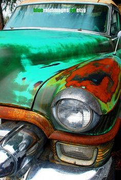 Old Rusty Cars,Old Car Photography,Car Art,Urban Decay by bluerainimages on Etsy