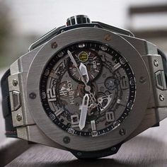 Hublot Big Bang Ferrari Titanium; beautiful watch. Too expensive but awesome.